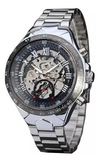Relógios Masculino Importad Luxo Skeleton Mecanico Winner