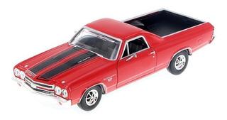 Chevy El Camino Ss 396 Motormax Escala 1:24 1970 Vermelho