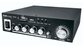 Amplificador Reproductor Usb Rca Sd Microfono Eq-30 220v 12v