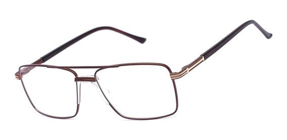 Armação Oculos Ogrife Og 370-c Masculino Com Lente Sem Grau
