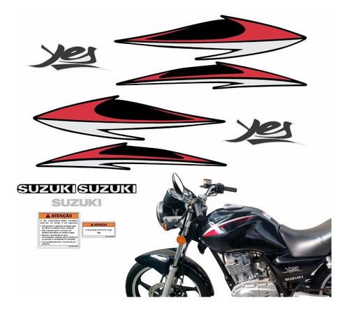 Kit Adesivos Suzuki Yes 125 2008 Preta 10202