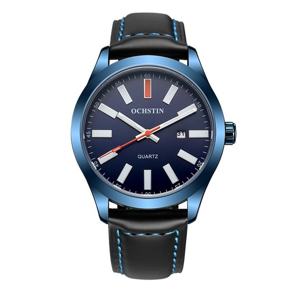 Relógio Masculino Ochstin Quartz Casual Luxo Pulseira Couro