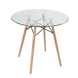 Mesa Comerdor Eames Cristal 80cm - By Arei Design!!