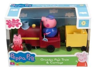 Peppa Pig Tren Del Abuelo Pig Figuras 6762 Amigos Locomotora