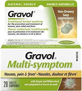 'gravol (20 Tabletas) Multi-symptom Antinauseant Para Na