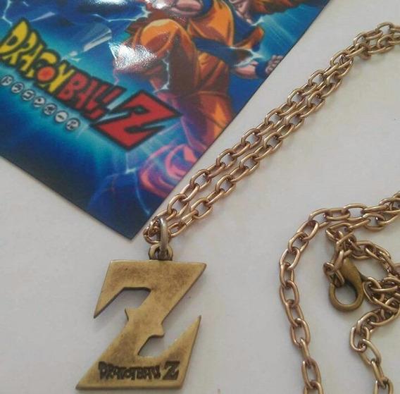 Colar Dragon Ball Z Letra Dourada Goku Anime