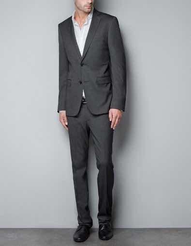 traje gris oscuro zara