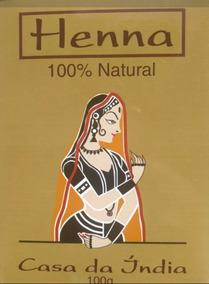 Henna Casa Da Índia Pura Frete Fixo P/ Todo Brasil Melhor $