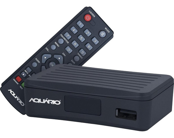 Mini Conversor E Gravador Digital Preto Dtv 4000 Aquário