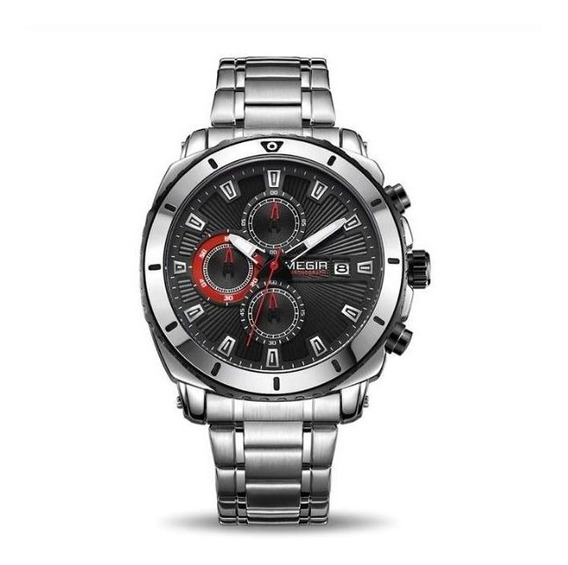 Relógio De Luxo Total Funcional Original Megir Melhor Preço