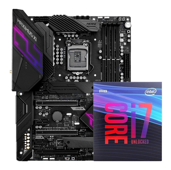 Kit Placa Asus Maximus Xi Hero Wi-fi + Processador I7-9700k