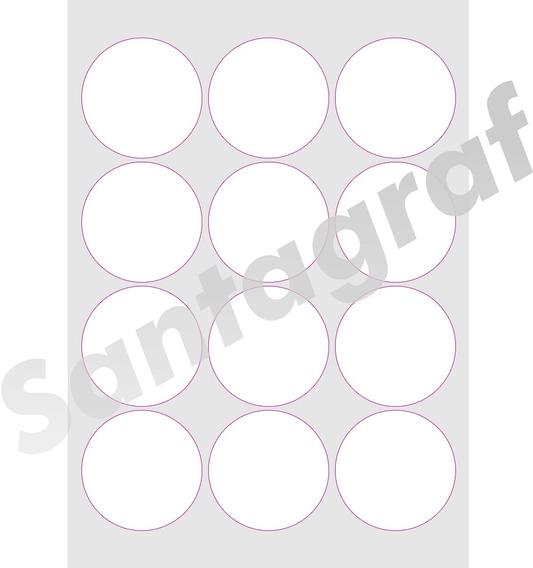 Etiquetas Adesivas 2400 Redonda 6x6 Para Imprimir