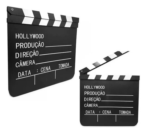 Kit 02(dois) Claquete Profissional Hollywood Sony Dreamworks