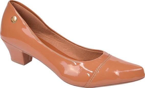 Sapato Feminino Scarpin Salto Baixo Rosa Chic Ref: 36.005