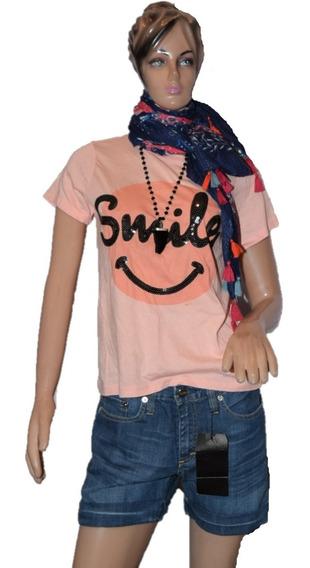 47 Street Remera Smile Lentils Con Lentejuelas