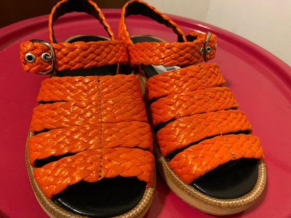 Sandalias Mishka Nuevas Color Naranja N 38