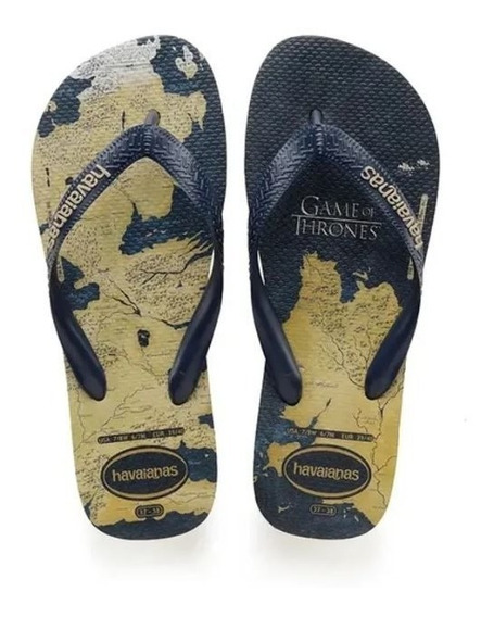 Chinelo Masculino Top Game Of Thrones Bege Havaianas Clique+