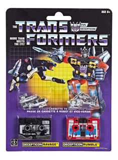 Transformers G1 Cassettes Ravage And Rumble Set Dos Piezas