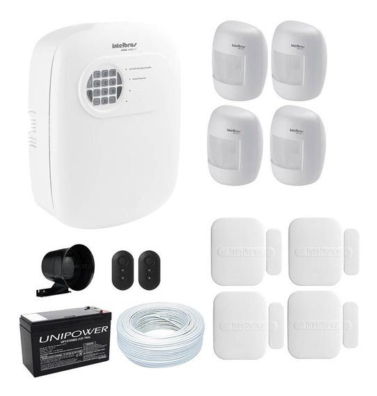 Kit Alarme Central Intelbras Segurança Residêncial Comercial