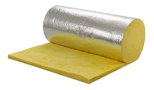 Aislante Termico Rollo Lana De Vidrio Isover Con Aluminio