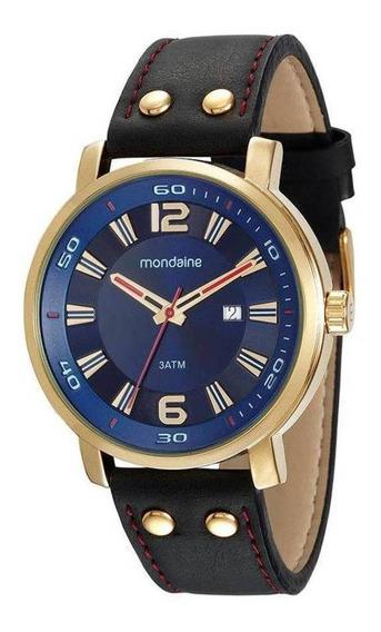 Relógio Masculino Mondaine Dourado 53591gpmvdh2 Original