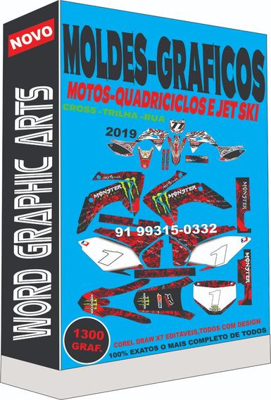 Graficos Kit Moldes 1300 Modelo De Motos Cross E Trilha ,rua