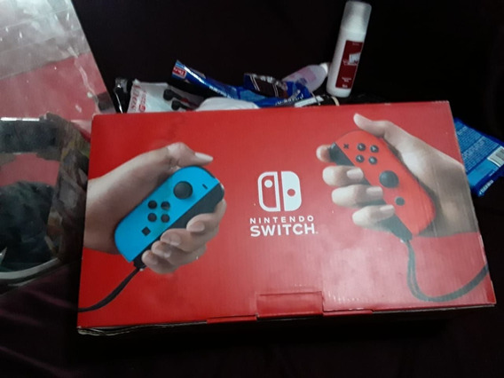 Nintendo Switch . Com Cartão De Memória 64gb. E Jogos