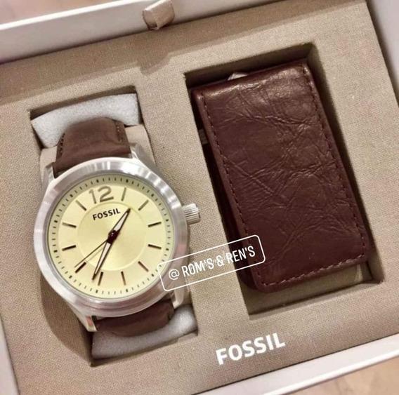 Reloj Fossil + Sujeta Billetes