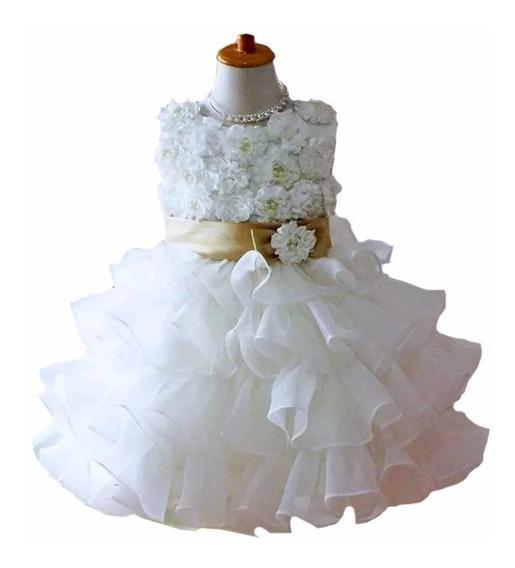 Vestido Bautizo Paje - Isidora - Pétalos Para Ti