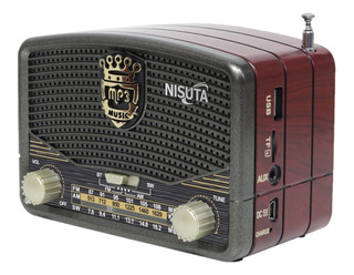 Parlante Radio Retro Vintage Nisuta Ns-rv16 Bluetooth/fm/am