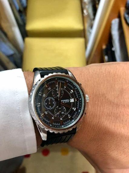 Relógio Esportivo Fóssil 10 Atm Pulseira De Borracha