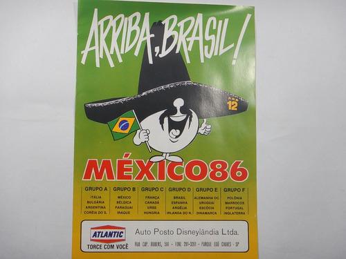 Tabela Copa Do Mundo Mexico 86 - Fuji - Com Compacto