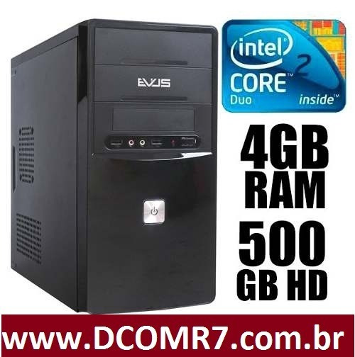 Computadores Intel Core2duo/hdd500/4gb/win7