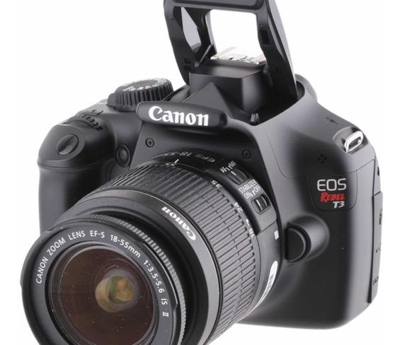 Kit Camera Canon T3 + 2 Lentes + Flash + Acessórios Original