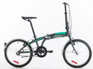 Bicicleta Plegable Rod. 20 Aluminio C/ Manubrio Plegable