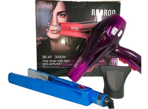Chapinha Prancha Profissional Azul 450ºf + Secador 3000w