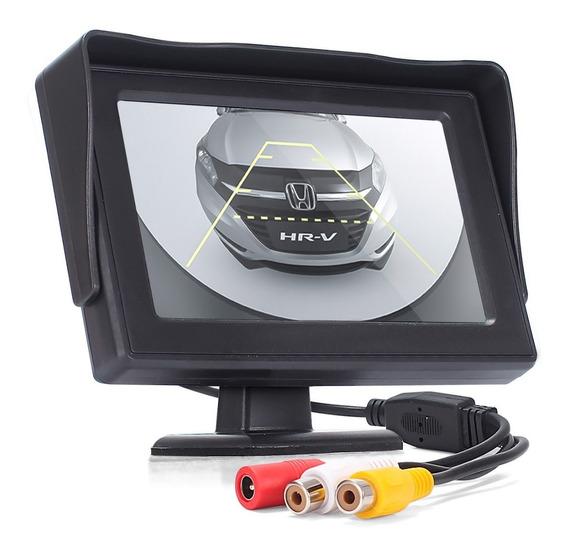 Tela Monitor Veicular Lcd P/ Câmera Ré Dvd Escolar 4.3 Vídeo
