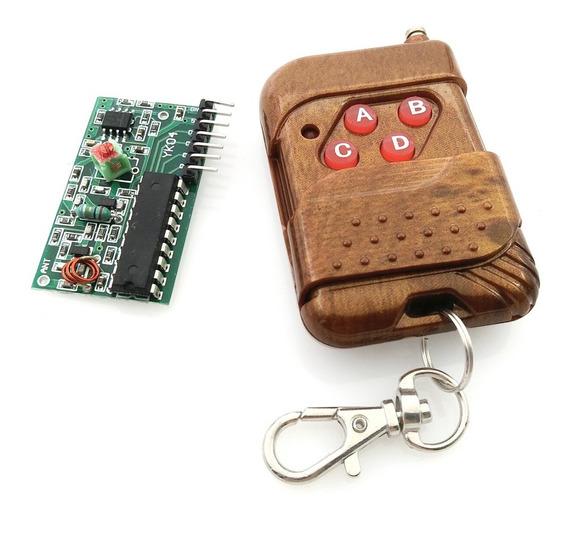 Controle Remoto Rf 315mhz 4 Canais C/ Receptor