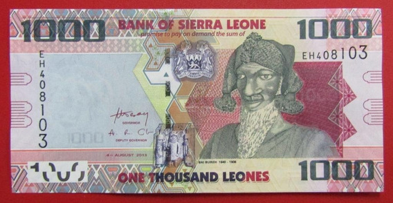 Sierra Leona Billete 1000 Leones 2013 Unc Pick 30