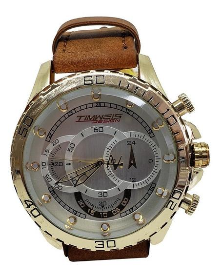 Relógio Masculino Analógico De Couro Timweis - Codigo 05