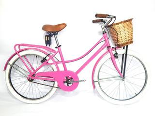 Bicicleta Vintage Rodado 24 Paseo Dama Retro Gm