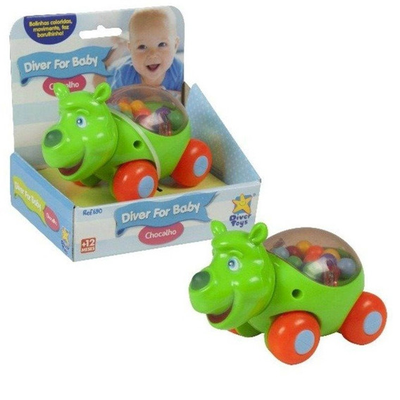 Diver For Baby Chocalho Rinoceronte Brinquedo Diver Toys