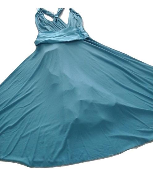 Vestidos De Modal Con Moño De Raso. Largo Medio.