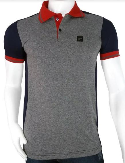 Camisa Elegânce Cola Polo Masculina