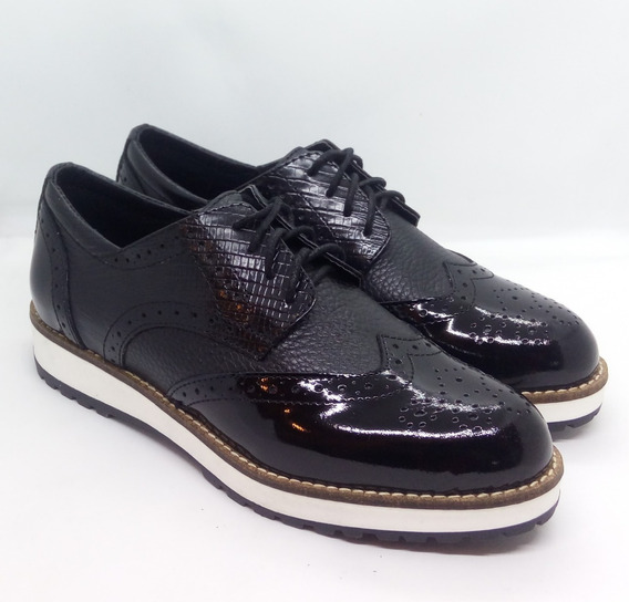 Zapatos Mujer Cuero Oxford Zuca Art P243 Zona Zapatos