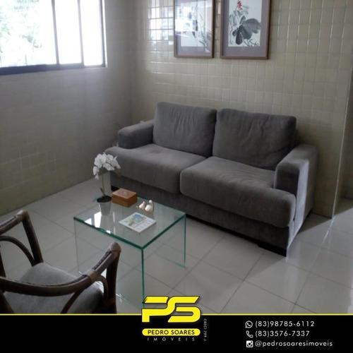 Apartamento Com 3 Dormitórios À Venda, 75 M² Por R$ 325.000 - Manaíra - João Pessoa/pb - Ap3517
