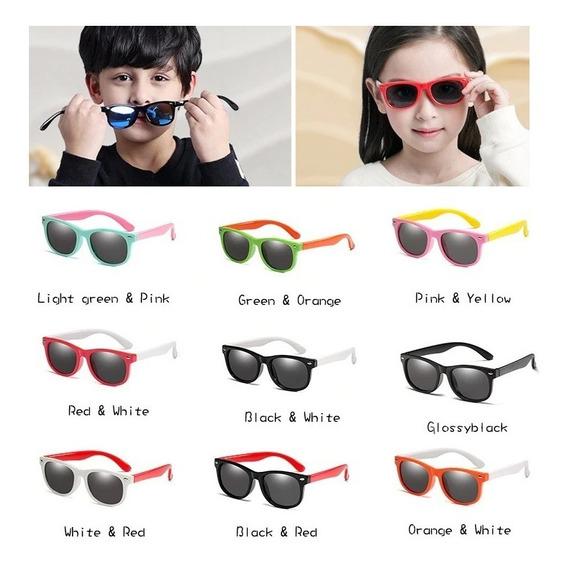 Óculos Infantil Crianças De Sol Verão Flexível Resistente