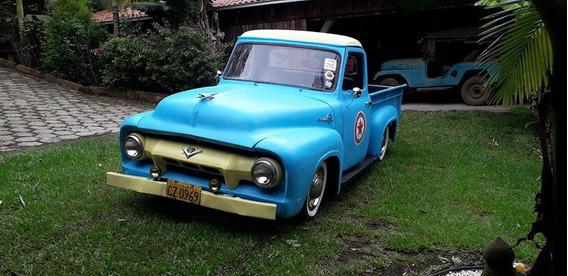 Pickup Ford F100 1954 Vampirinha Motor Diesel 4 Cilindros