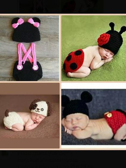 Newborn De Croche (4 Conjunto Conforme As Fotos)
