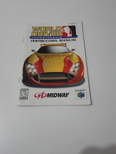Manual Do Jogo World Driver Championship (nintendo 64)